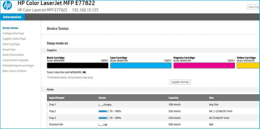 Remote EWS Access on HP Printers