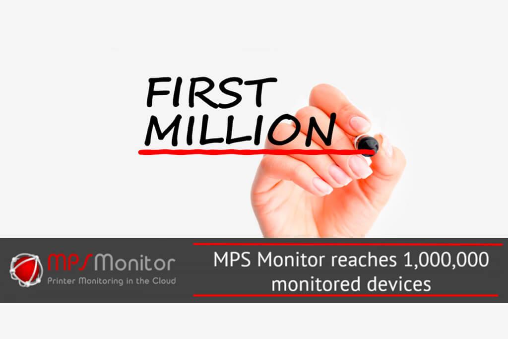 MPS Monitor a quota un milione di dispositivi di stampa monitorati