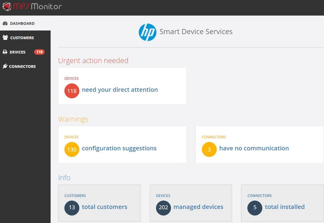 HP Smart Device Services webinars by MPS Monitor